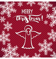 red greeting card christmas angel vector image vector image