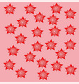 red stars pink backgraund attern paper nature vector image vector image