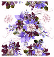 seamless background or pattern with flowers vector image