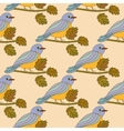 Seamless pattern with the tit on a branch vector image