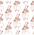 seamless pattern with violin and balloons vector image