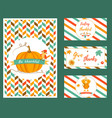 set of banners and cards for thanksgiving day vector image vector image