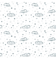 snow and clouds pattern vector image vector image