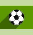 soccer ball icon flat design vector image