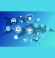 social network man profiles vector image