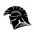 spartan helmet sign vector image vector image