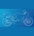 sports bike technical wire-frame eps10 format vector image vector image
