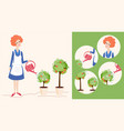 spring gardening and icons vector image vector image