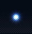 star on a transparent background glowing vector image