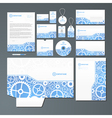 Stationery set with gears vector image vector image