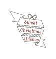 Sweet Christmas wishes typography sign vector image vector image