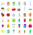 tasty drink icons set cartoon style vector image vector image