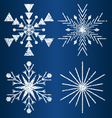 textured snowflakes 3 vector image vector image