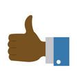 thumb up like symbol vector image
