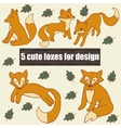 Very high quality original set with five cute vector image vector image