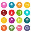 weater icons set colorful circles vector image vector image