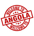 welcome to angola red stamp vector image vector image