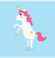 white cute magic unicorns character vector image vector image