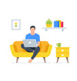 working at home men vector image