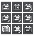 Calendar with notes icon set vector image
