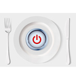 button inside dish vector image