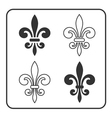 Fleur de Lis symbol set vector image