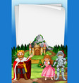 a medieval period template vector image