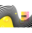 abstract background design with stripe wave black vector image vector image
