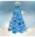 Abstract background with elegant Christmas blue vector image vector image