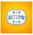Autumn handmade Gzhel label vector image vector image