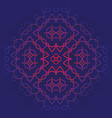 background with pattern of mandala blue and red vector image vector image