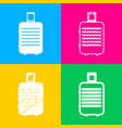 baggage sign four styles of icon on vector image