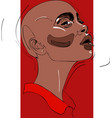 bald head of young woman one line design vector image vector image
