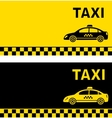 black and yellow taxi business card vector image