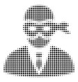 black dot masked thief icon vector image