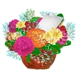 Bouquet of bright flowers EPS 10 vector image vector image