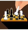 Business strategy with chess figures of chess