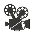 camera video with cinema icon vector image vector image