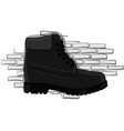casual gray shoes with a rough outsole with lacing vector image vector image