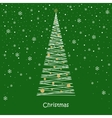 Christmas card balls snowflakes tree vector image