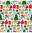 Christmas Patch Seamless Pattern vector image
