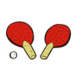 comic cartoon table tennis bats vector image vector image