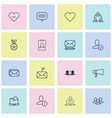 communication icons set with team staff vector image vector image
