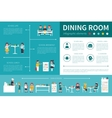 Dining Room infographic flat vector image