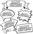 doodle label tag banner happy birthday vector image vector image