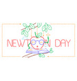 educational banner newton day vector image vector image
