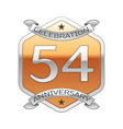 Fifty four years anniversary celebration silver vector image vector image