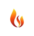 fire flame logo hot fire symbol icon design sign vector image vector image
