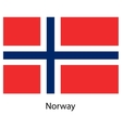 Flag of the country norway vector image