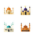 flat icon building set of religion mohammedanism vector image vector image